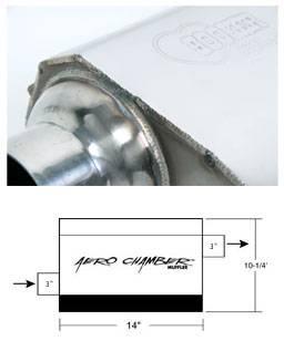 Hooker - Hooker Hooker Aero Chamber Muffler 21530HKR