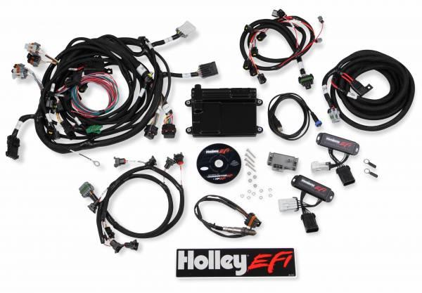Holley EFI - Holley EFI 4V FORD MODULAR EFI KIT, NTK O2, JETRONIC INJ 550-617N