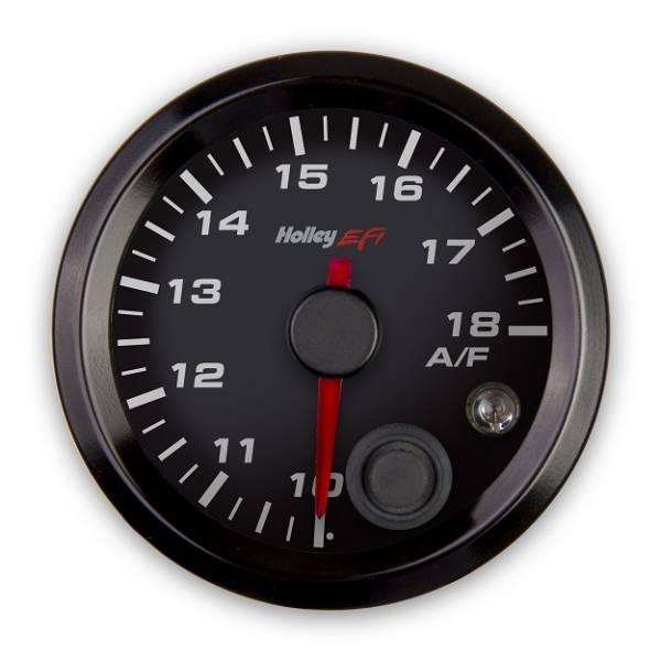 Holley EFI - Holley EFI 2-1/16 AFR RIGHT GAUGE, 10-18, CAN, BLACK 553-132