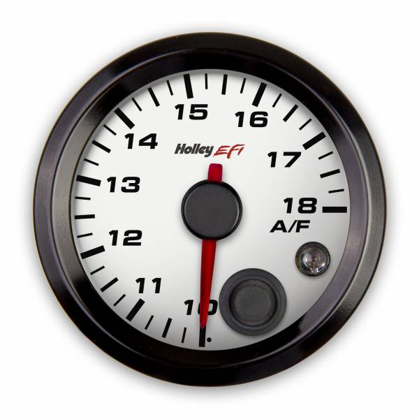 Holley EFI - Holley EFI 2-1/16 AFR RIGHT GAUGE, 10-18, CAN, WHITE 553-132W