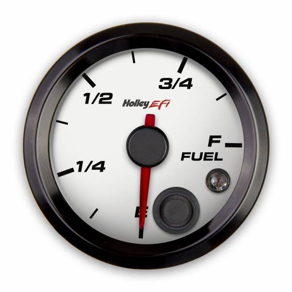 Holley EFI - Holley EFI 2-1/16 FUEL LEVEL GAUGE, PROGRAMMABLE, WHITE 553-133W