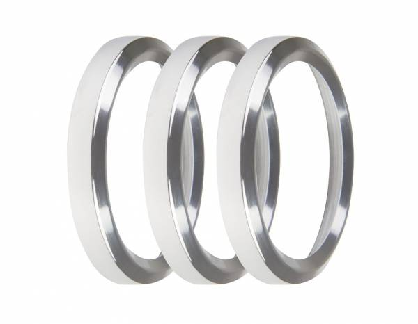 Holley EFI - Holley EFI 2-1/16 BEZELS, SILVER, PACK OF 3 553-145S