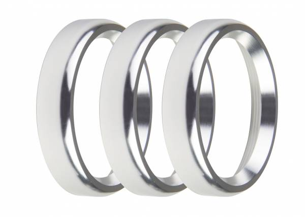 Holley EFI - Holley EFI 2-1/16 BEZELS, SILVER, BOLD, PACK OF 3 553-145SB