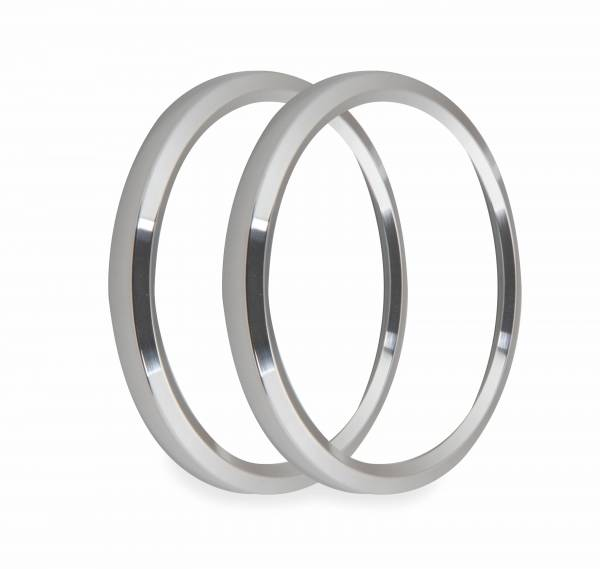 Holley EFI - Holley EFI 4-1/2 BEZELS, SILVER, PACK OF 2 553-147S
