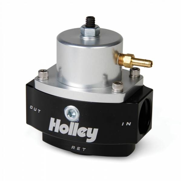 Holley - 12-848 Dominator Billet EFI Bypass Fuel Prs Regulator, Adjustable 15-65 psi, 10AN IN/OUT 8AN, Return