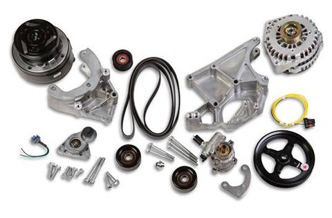 Holley - Holley COMPLETE ACC DRV SYSTEM, WITH R4 AC COMP, 20-136
