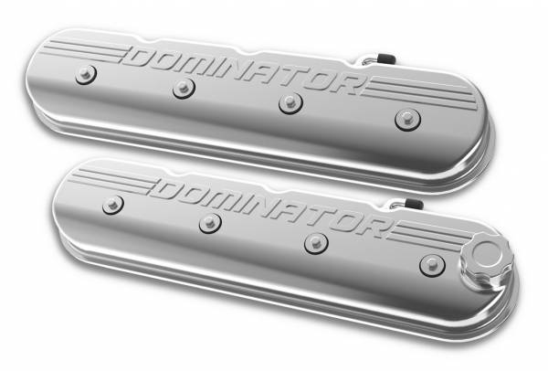 Holley - Holley VALVE COVER, TALL LS, POLISHED W/ DOMINATOR 241-119