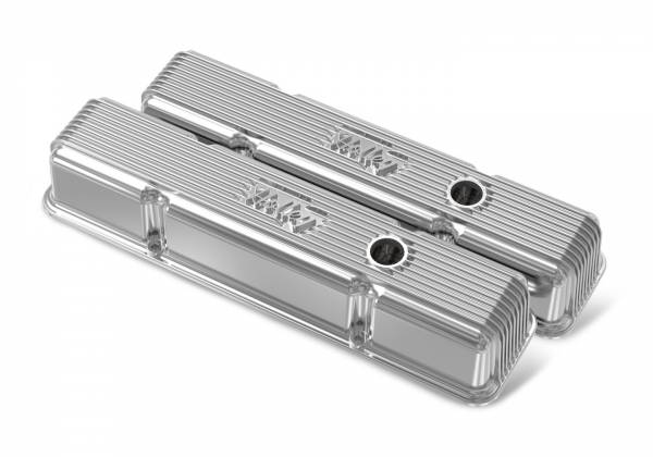 Holley - Holley SBC HOLLEY VALVE COVERS,FINNED,W/EMIS,POL 241-241