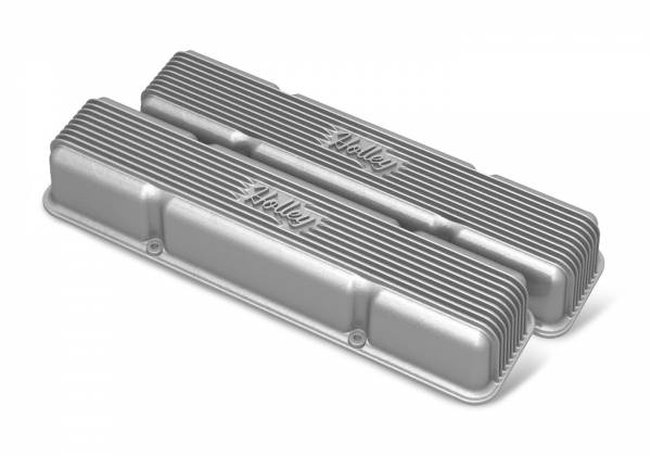 Holley - Holley SBC HOLLEY VALVE COVERS,FINNED,NON-EMIS,RAW 241-243