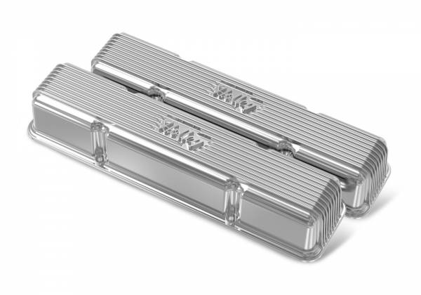 Holley - Holley SBC HOLLEY VALVE COVERS,FINNED,NON-EMIS,POL 241-244