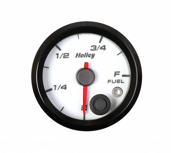 Holley - Holley 2-1/16 HOLLEY FUEL LEVEL GAUGE-WHT 26-614W