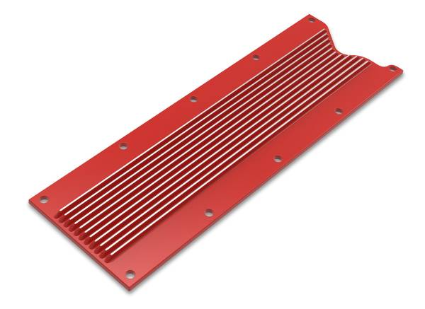 Holley - Holley VALLEY COVER FINNED GM LS1/LS6 - GLOSS RED FINISH 241-259