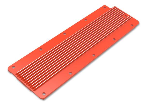 Holley - Holley VALLEY COVER FINNED GM LS2/3/7/X-GM ORANGE FINISH 241-271