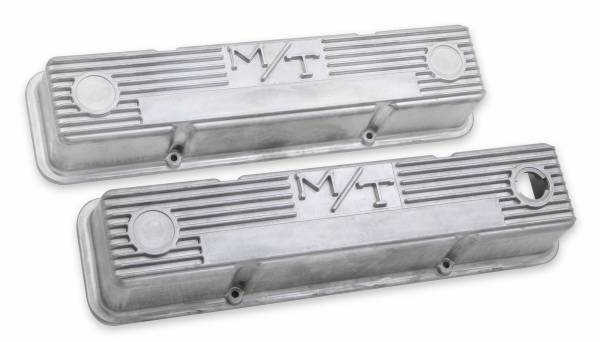Holley - Holley VALVE COVER, M/T SBC, NATURAL 241-86