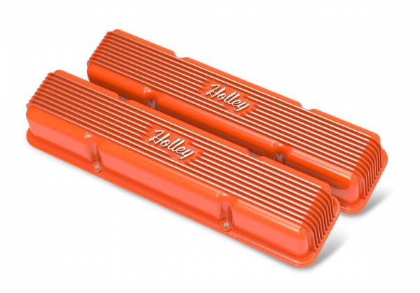 Holley - Holley SBC HOLLEY VALVE COVERS,FINNED,NON-EMIS, 241-272