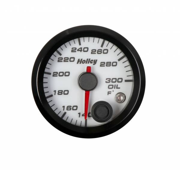 Holley - Holley 2-1/16 HOLLEY OIL TEMP GAUGE-WHT 26-604W