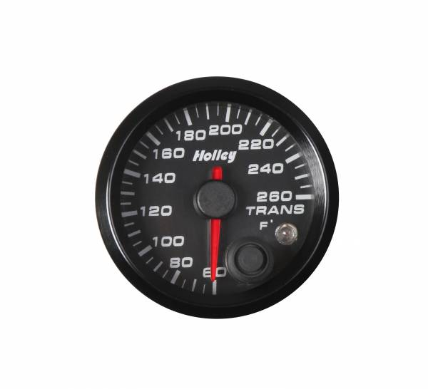 Holley - Holley 2-1/16 HOLLEY TRANS TEMP GAUGE-BLK 26-605