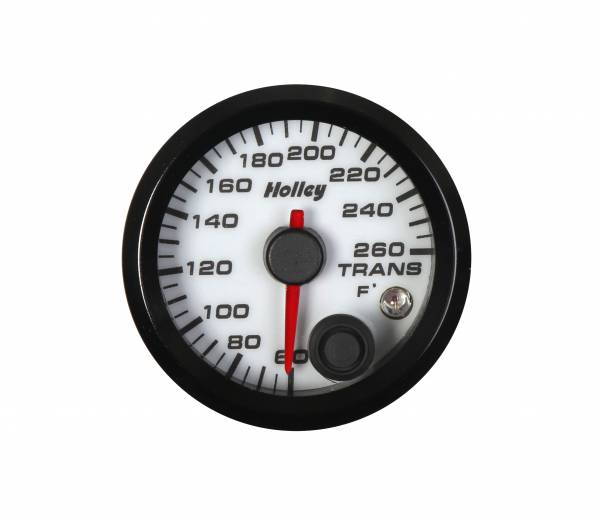Holley - Holley 2-1/16 HOLLEY TRANS TEMP GAUGE-WHT 26-605W