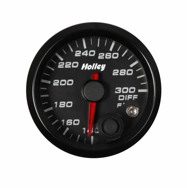 Holley - Holley 2-1/16 HOLLEY DIFF TEMP GAUGE-BLK 26-607