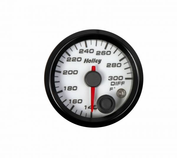 Holley - Holley 2-1/16 HOLLEY DIFF TEMP GAUGE-WHT 26-607W