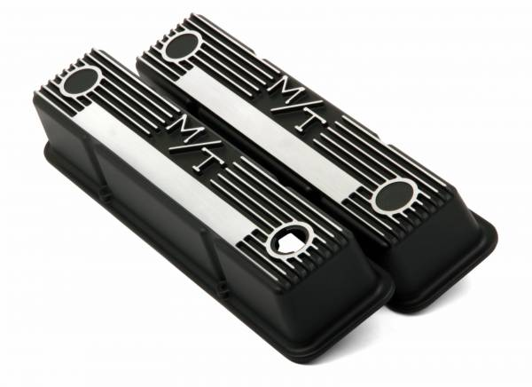 Holley - Holley VALVE COVER, M/T SBC, BLACK KRINKLE 241-83
