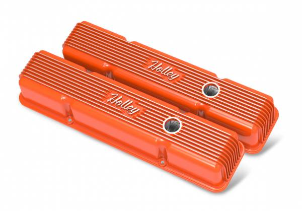 Holley - Holley SBC HOLLEY VALVE COVERS,FINNED,W/EMIS 241-239