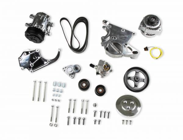 Holley - Holley COMP HI ACC BKT KIT, LS/LT, W/SD7-POLISH 20-138P