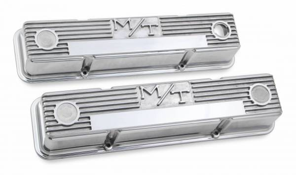 Holley - Holley VALVE COVER, M/T SBC, POLISHED 241-82