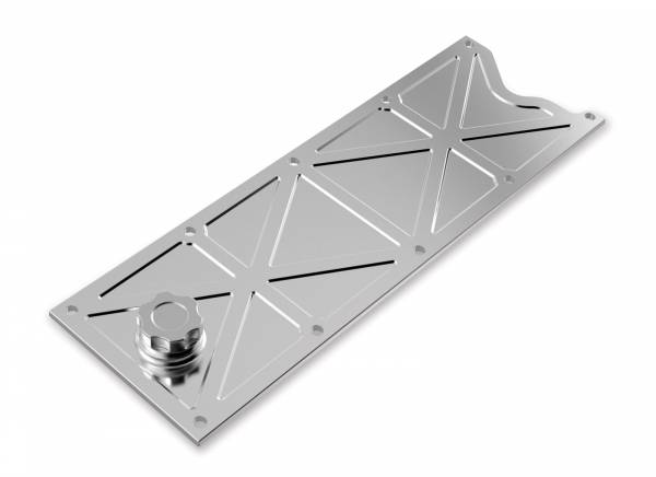 Holley - Holley VALLEY COVER TRUSSED POLISHED W/OIL FILL 241-368