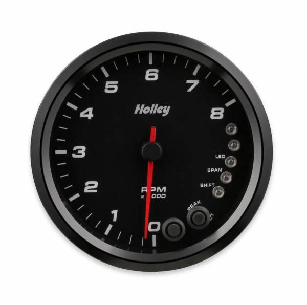 Holley - Holley 4-1/2 HOLLEY 8K TACH W/SHFT LGT-BLK 26-616