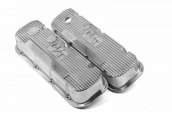 Holley - Holley VALVE COVER, M/T BBC, POLISHED 241-84