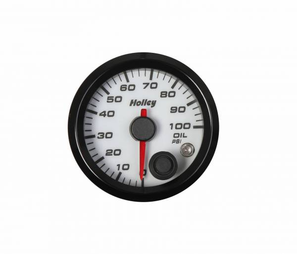 Holley - Holley 2-1/16 HOLLEY OIL PRES GAUGE-WHT 26-601W