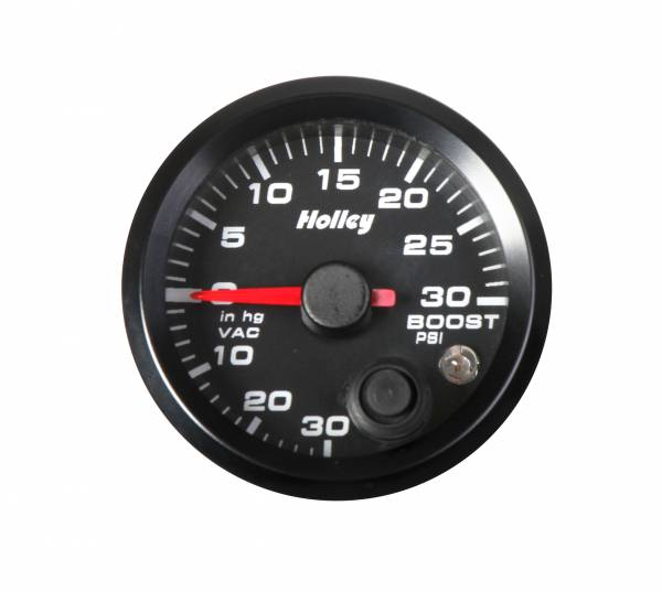 Holley - Holley 2-1/16 HOLLEY BOOST/VAC GAUGE-BLK 26-606