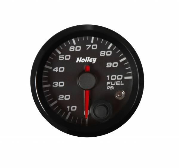 Holley - Holley 2-1/16 HOLLEY FUEL PRES GAUGE-BLK 26-608