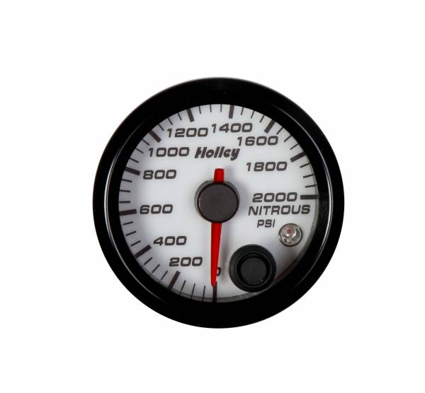 Holley - Holley 2-1/16 HOLLEY NITROUS PRES GAUGE-WHT 26-609W