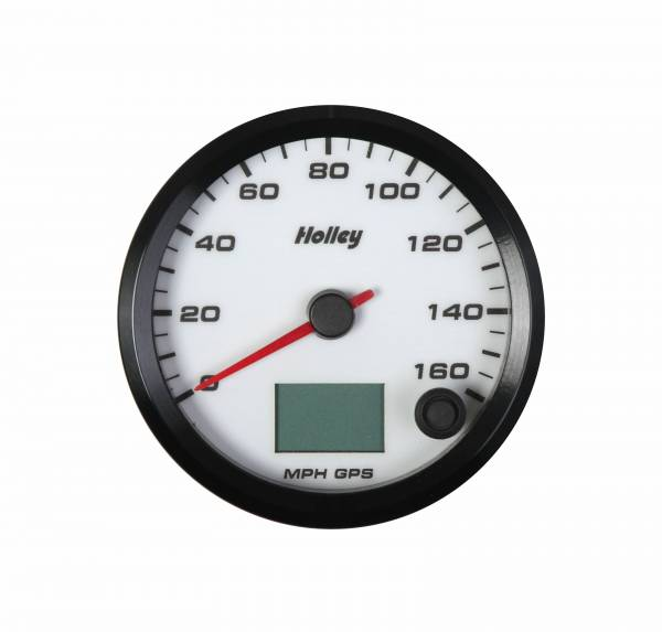Holley - Holley 3-3/8 HOLLEY 160 GPS SPEEDO-WHT 26-612W