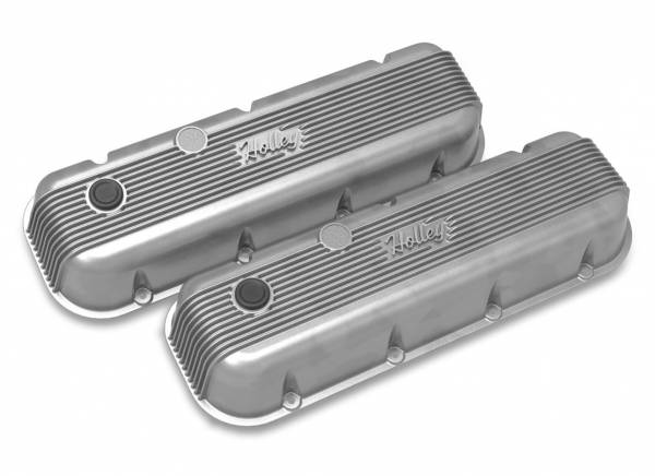 Holley - Holley BBC HOLLEY VALVE COVERS,FINNED,NON-EMIS, 241-300
