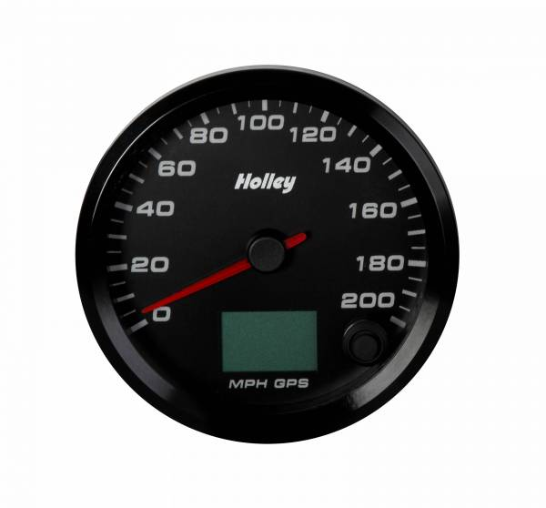 Holley - Holley 3-3/8 HOLLEY 200 GPS SPEEDO-BLK 26-613