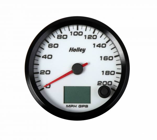 Holley - Holley 3-3/8 HOLLEY 200 GPS SPEEDO-WHT 26-613W