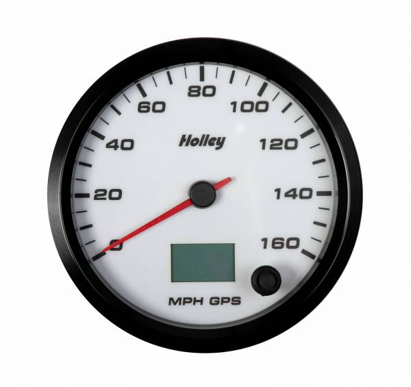 Holley - Holley 4-1/2 HOLLEY 160 GPS SPEEDO-WHT 26-610W