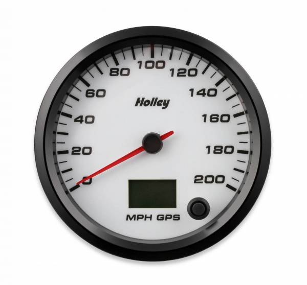 Holley - Holley 4-1/2 HOLLEY 200 GPS SPEEDO-WHT 26-611W
