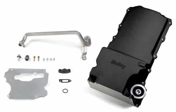 Holley - Holley OIL PAN, GM LS RETROFIT - BLACK 302-1BK