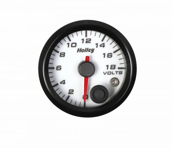 Holley - Holley 2-1/16 HOLLEY VOLT GAUGE-WHT 26-603W