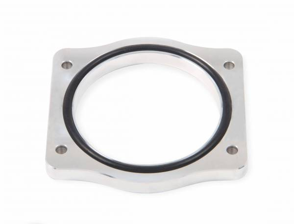 Holley Sniper EFI - Throttle Body Spacer Silver 2011-present Ford Coyote 5.0L V8