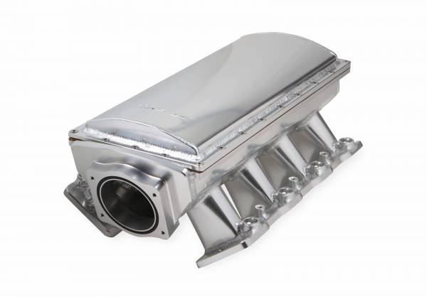 Holley Sniper EFI - Sniper EFI Fabricated Race Series Intake Manifold - GM LS3/L92 - 90mm - Silver
