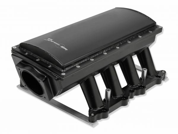Holley Sniper EFI - Sniper EFI Fabricated Race Series Intake Manifold - 2011-14 Ford 5.0L Coyote - Black