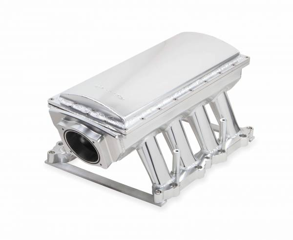 Holley Sniper EFI - Sniper EFI Fabricated Race Series Intake Manifold - 2011-14 Ford 5.0L Coyote - Silver