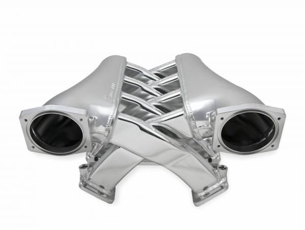 Holley Sniper EFI - Sniper EFI Fabricated Intake Manifold Dual Plenum 102mm GM LS3/L92, TB spacers, and Fuel Rail Kit - Silver