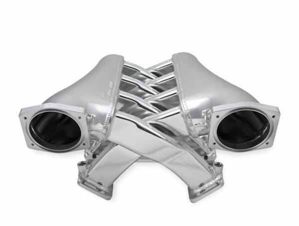Holley Sniper EFI - Sniper EFI Fabricated Intake Manifold Dual Plenum 102mm GM LS1/2/6, TB spacers, and Fuel Rail Kit - Silver