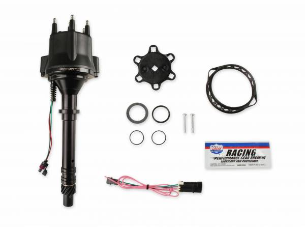 Holley Sniper EFI - 565-317BK HyperSpark Distributor - GM V6 - Black Billet Housing